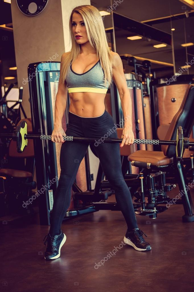 blonde workout girl
