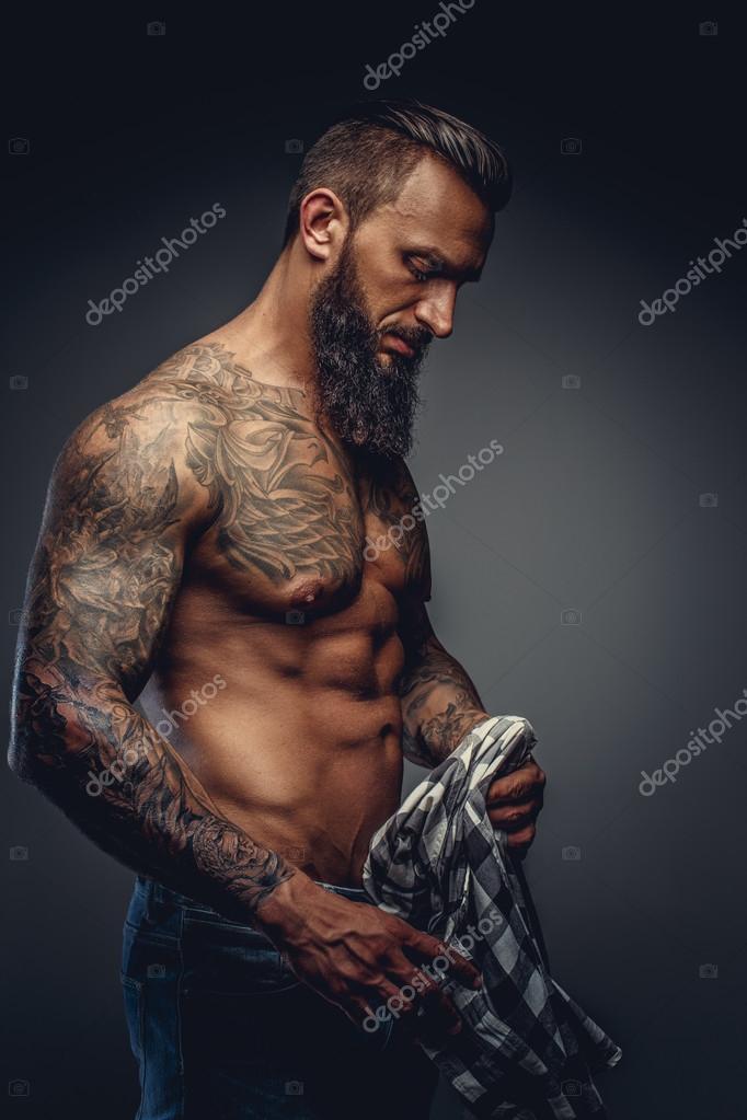 Бородатые мужчины красивые торс секс