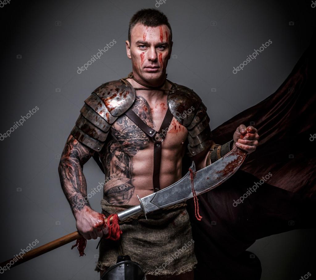 Silne Gladiator W Zbroi Zdjęcie Stockowe Fxquadro 63351793