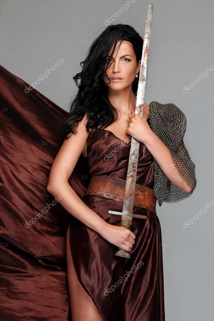 Schöne Frauen Mit Schwarzen Haaren Stockfoto Fxquadro 63870987
