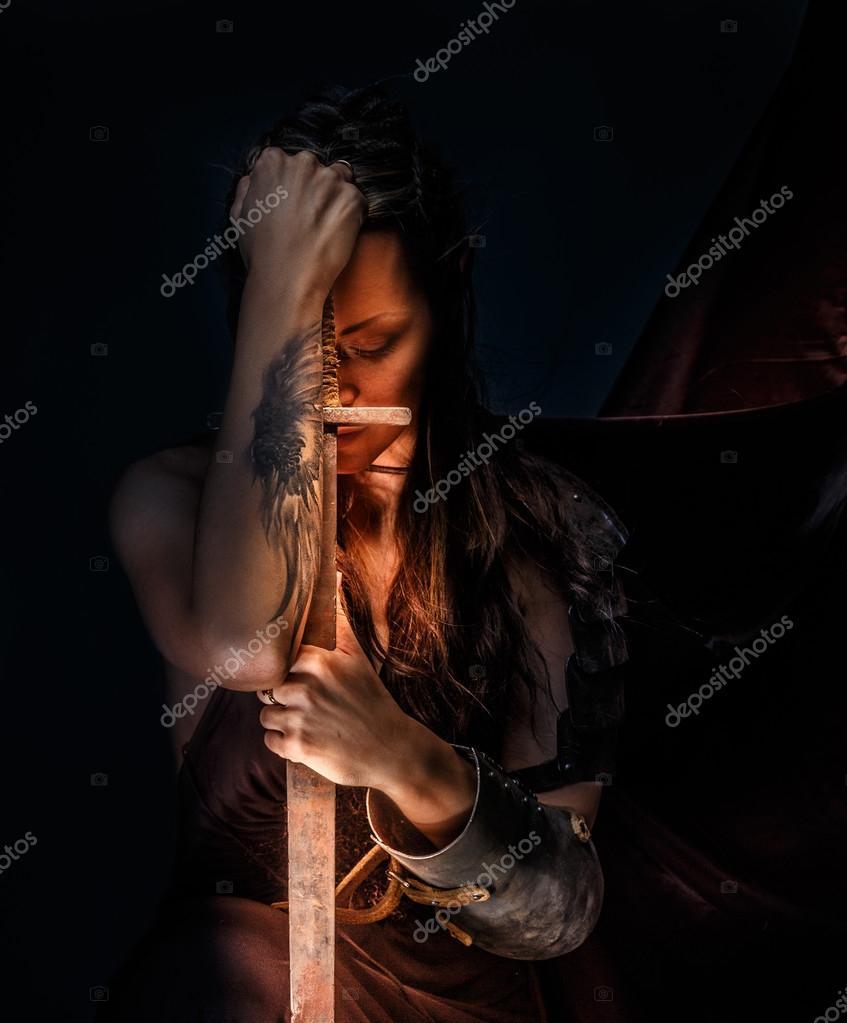 portrait of mystic elf woman u2014 stock photo fxquadro 64432627