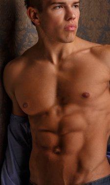 Muscular male body.