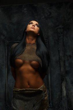 Female in ancient armor