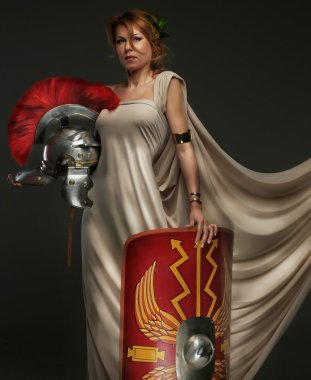 Female in roman clothing