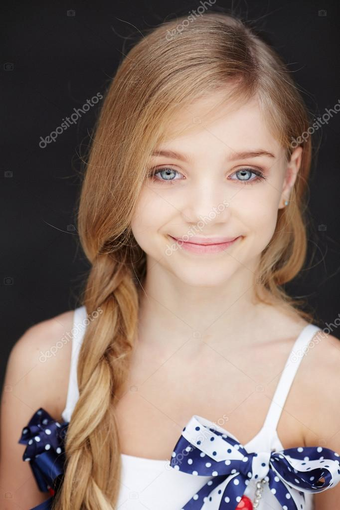 Beautiful little girl with long hair stock photo fxquadro 72553383 - Pics of small little girls ...