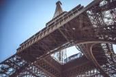 Eiffel tower on blue sky background.
