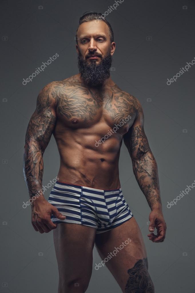 Homme Barbu Nu la mode homme barbu nue — photographie fxquadro © #86693348