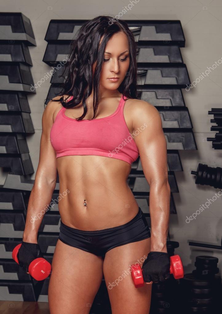 athletic brunette