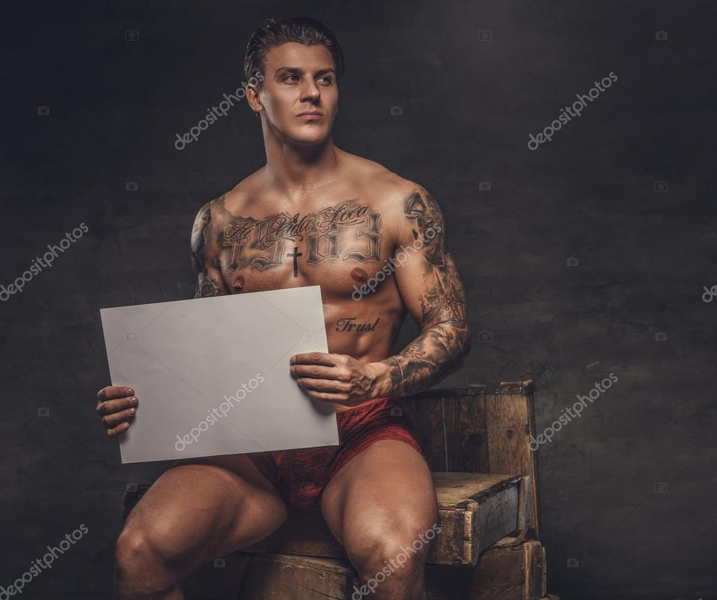 Tattoos guy with Sexy naked