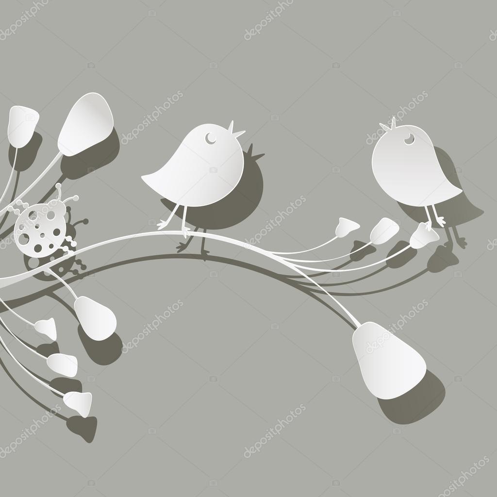 birds and ladybird