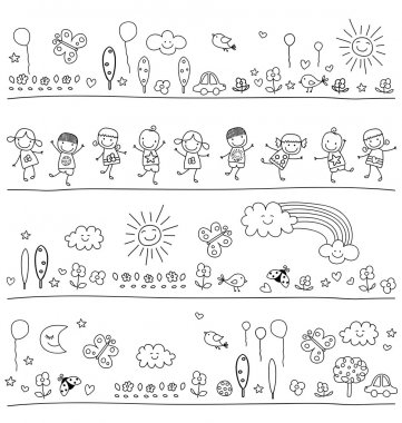 Black and white pattern for children