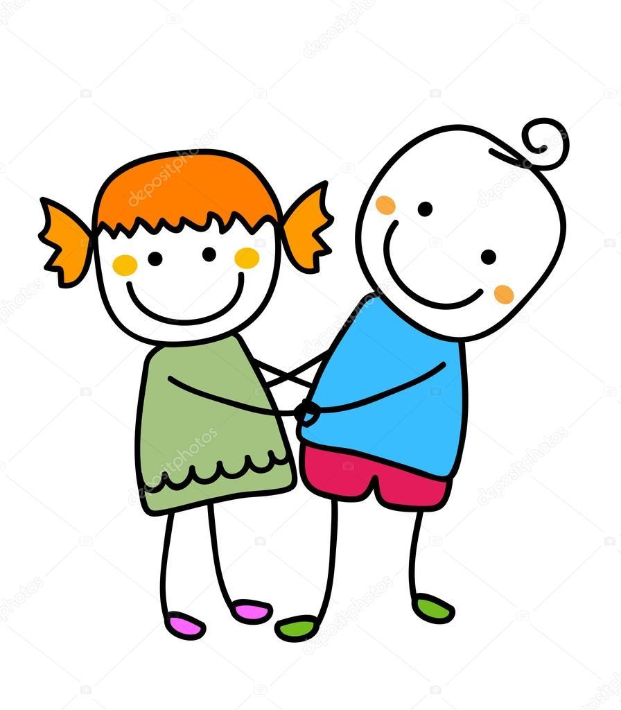 Картинки мальчика и девочки держащиеся за руки