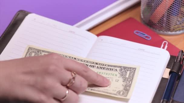 Ragioniere di donna con soldi