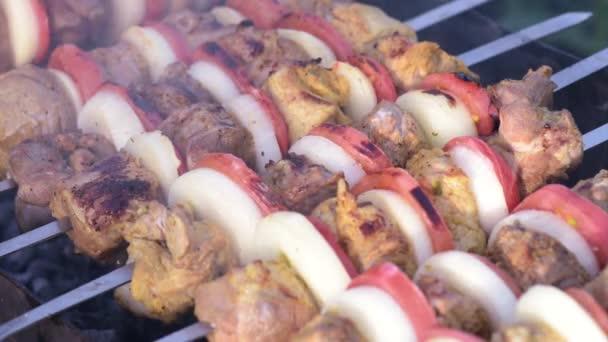 barbecue s vynikající grilované maso