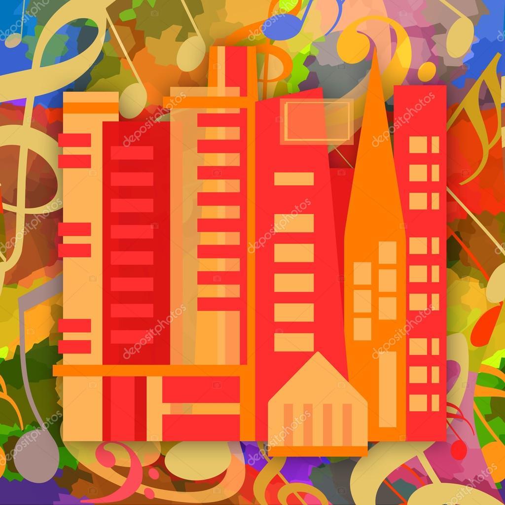 Music city background