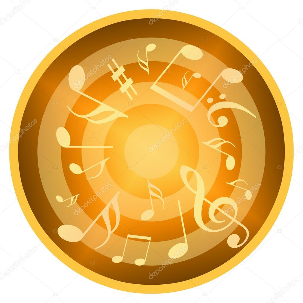 Music circle background