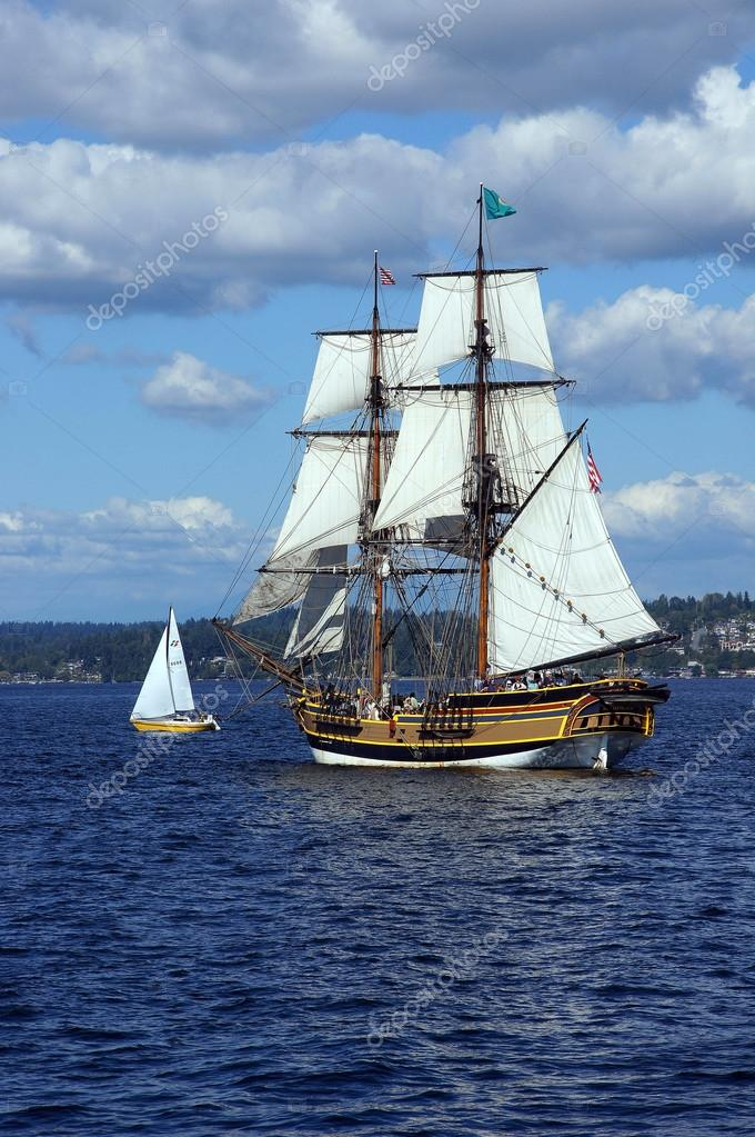Two Masted Tall Ship Stock Photo C Cascoly 63604919