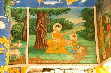 """Картина, постер, плакат, фотообои """"сцены из жизни Будды"""", артикул 74946037"""
