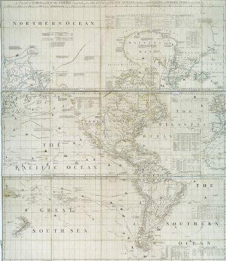 Early 18th century map of Western Hemisphere