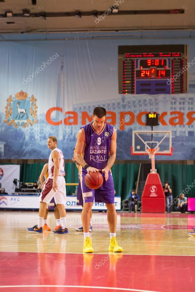 BC Royal Hali Gaziantep forward Oliver Stevic (9) prepares to shoot a free throw