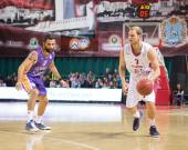 BC Krasnye Krylia guard Anton Ponkrashov (7), with ball, is on the attack