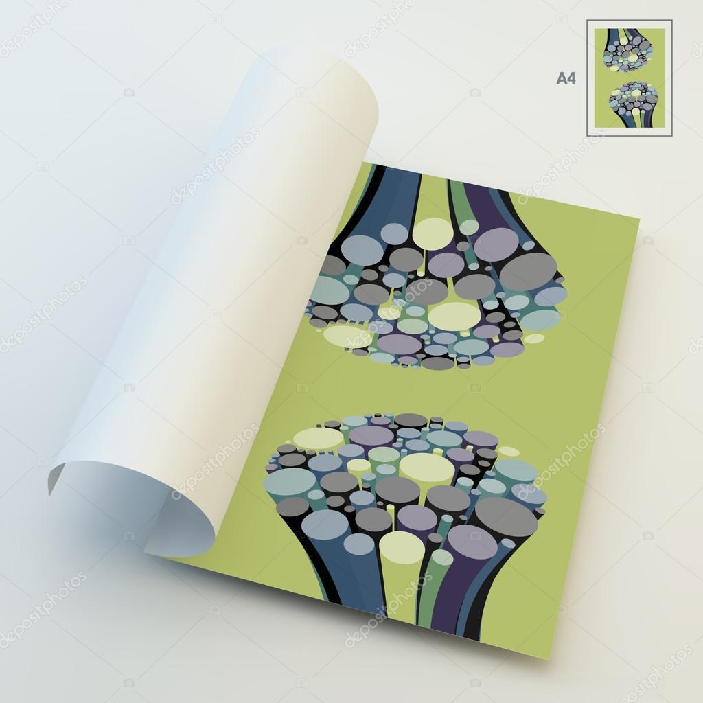 A4 Business-Blank. 3d abstrakt String Draht Kunstwerk Hintergrund ...