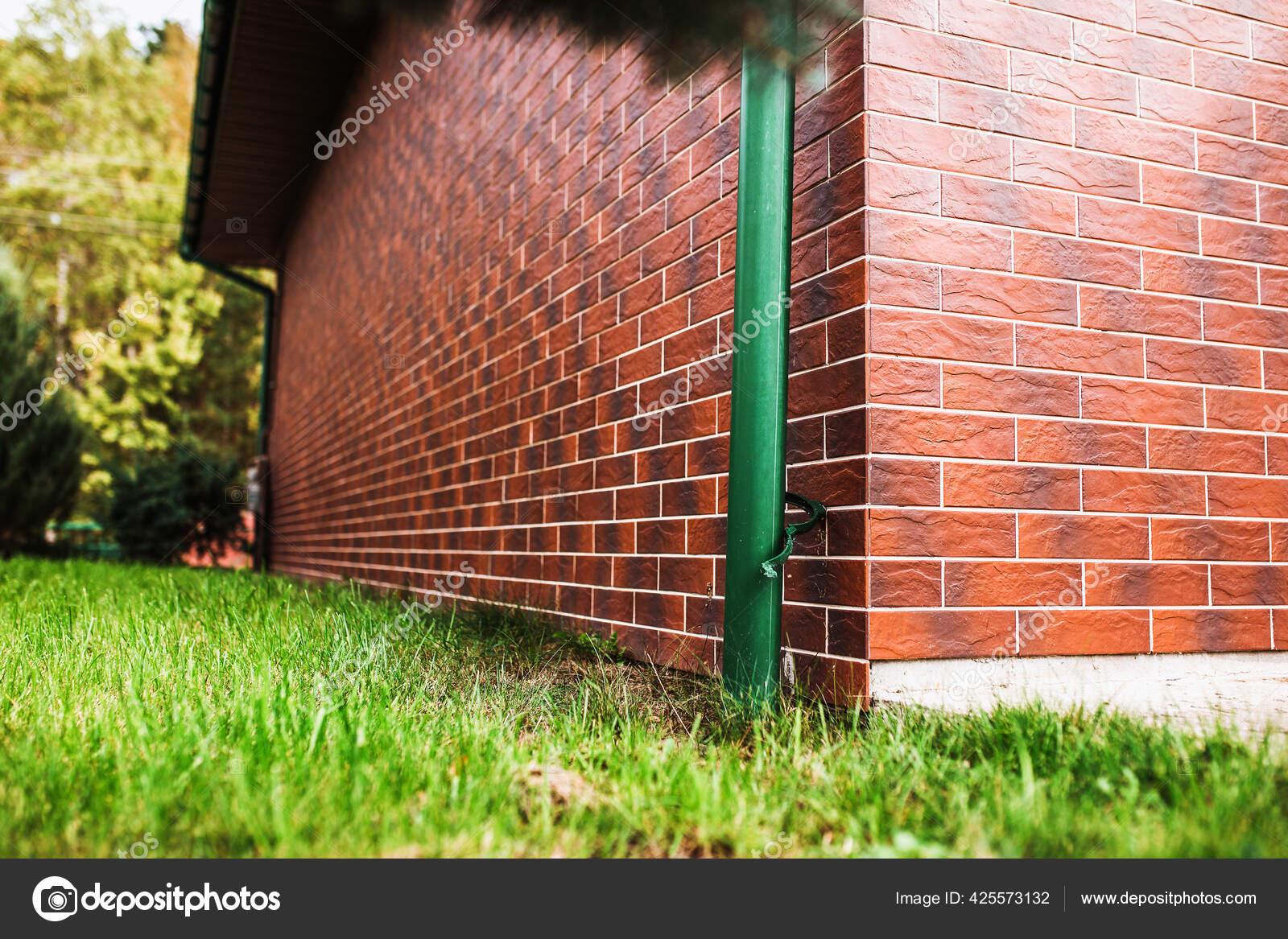 Exterior Wall Decoration House Ceramic Tiles Imitation Red Brick Exterior Stock Photo C Andreygonchar 425573132