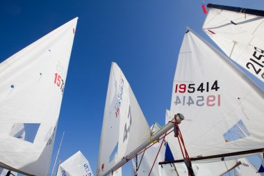 View of the yachting Regatta sails