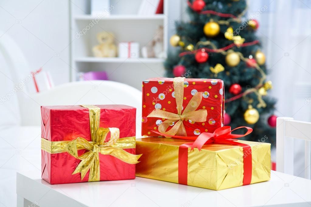 Traditional Christmas gifts u2014 Stock Photo & Traditional Christmas gifts u2014 Stock Photo © yanlev #86596240