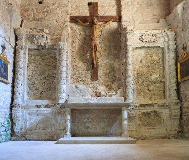 Wooden crucifix view