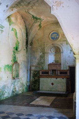 "Картина, постер, плакат, фотообои ""интерьер церкви кармине фрески"", артикул 85852890"