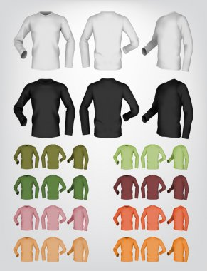 Long sleeve blank t-shirt template.