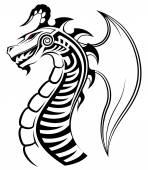 Chinese dragon, tribal tattoo
