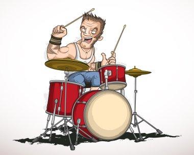 Rock musician drummer