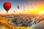 Photo Hot air balloons over Cappadocia