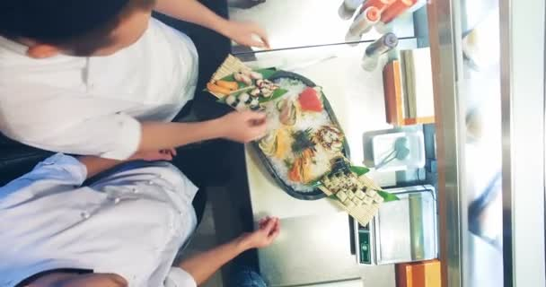 Chefs decorate of sushi set