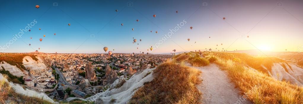 Hot air balloons over Cappadocia