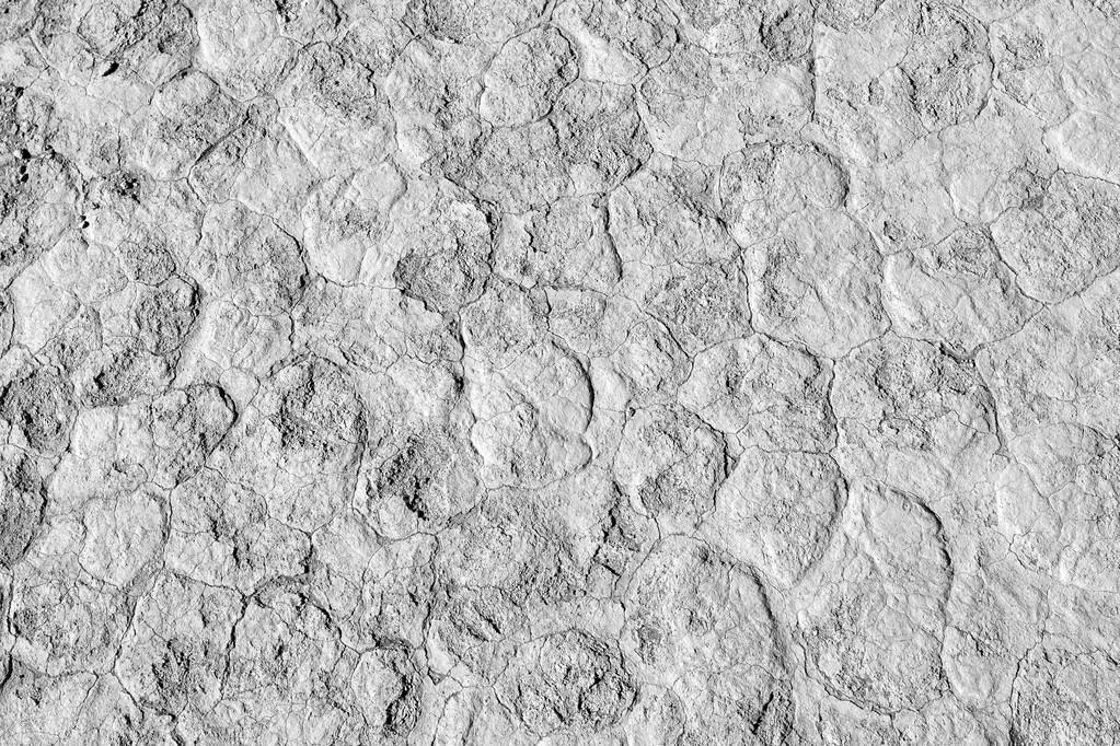 Cracked soil in desert