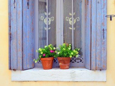 Provence, France.  Open window