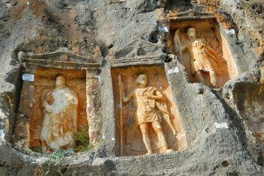 Adamkayalar - rock carved figures. Turkey