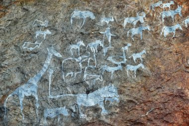 Ancient Rock paintings, Namibia