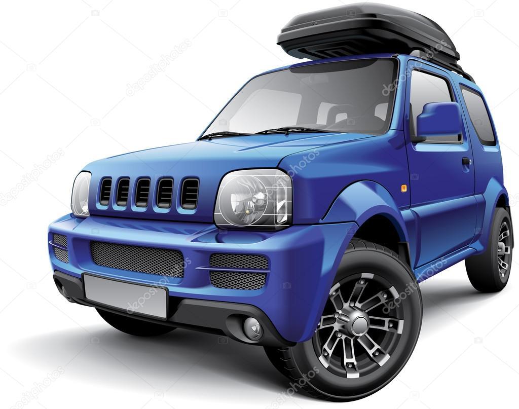 Asiatische Offroad-Mini-Suv mit Dach-Tasche — Stockvektor © bussja #108692212