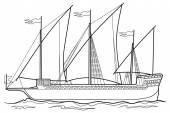 Skizze-Jacht