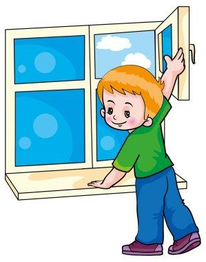 Boy making Ventilation