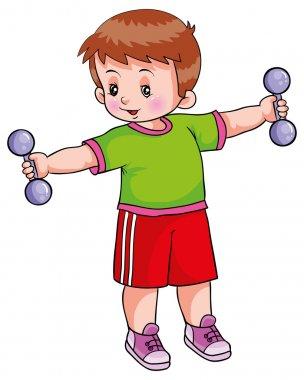 Boy workout