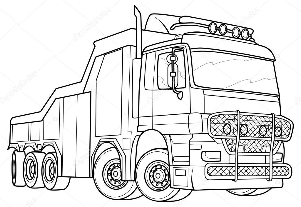 Sketch truck — Stock Vector © Kopirin #58287123