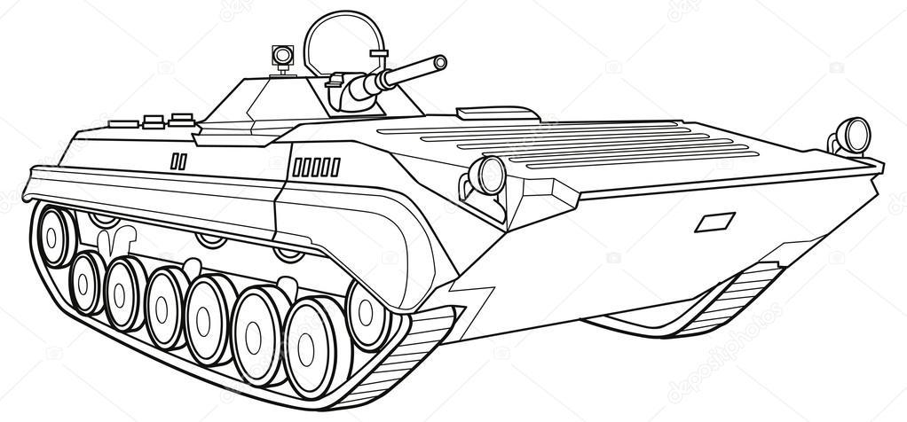 Military Vehicle Stock Vector C Kopirin 58287305