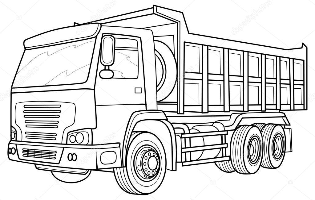 Sketch truck — Stock Vector © Kopirin #58287377