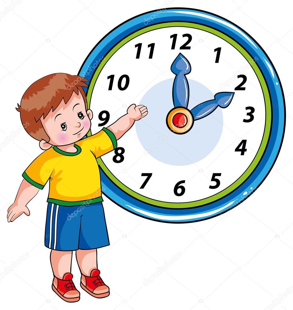 Ni o y el reloj vector de stock kopirin 58287479 for El tiempo en st hilari sacalm