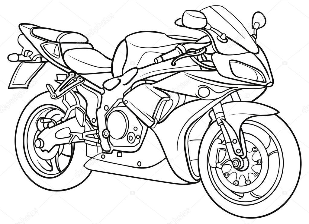 sketch motorcycle stock vector 169 kopirin 58287635